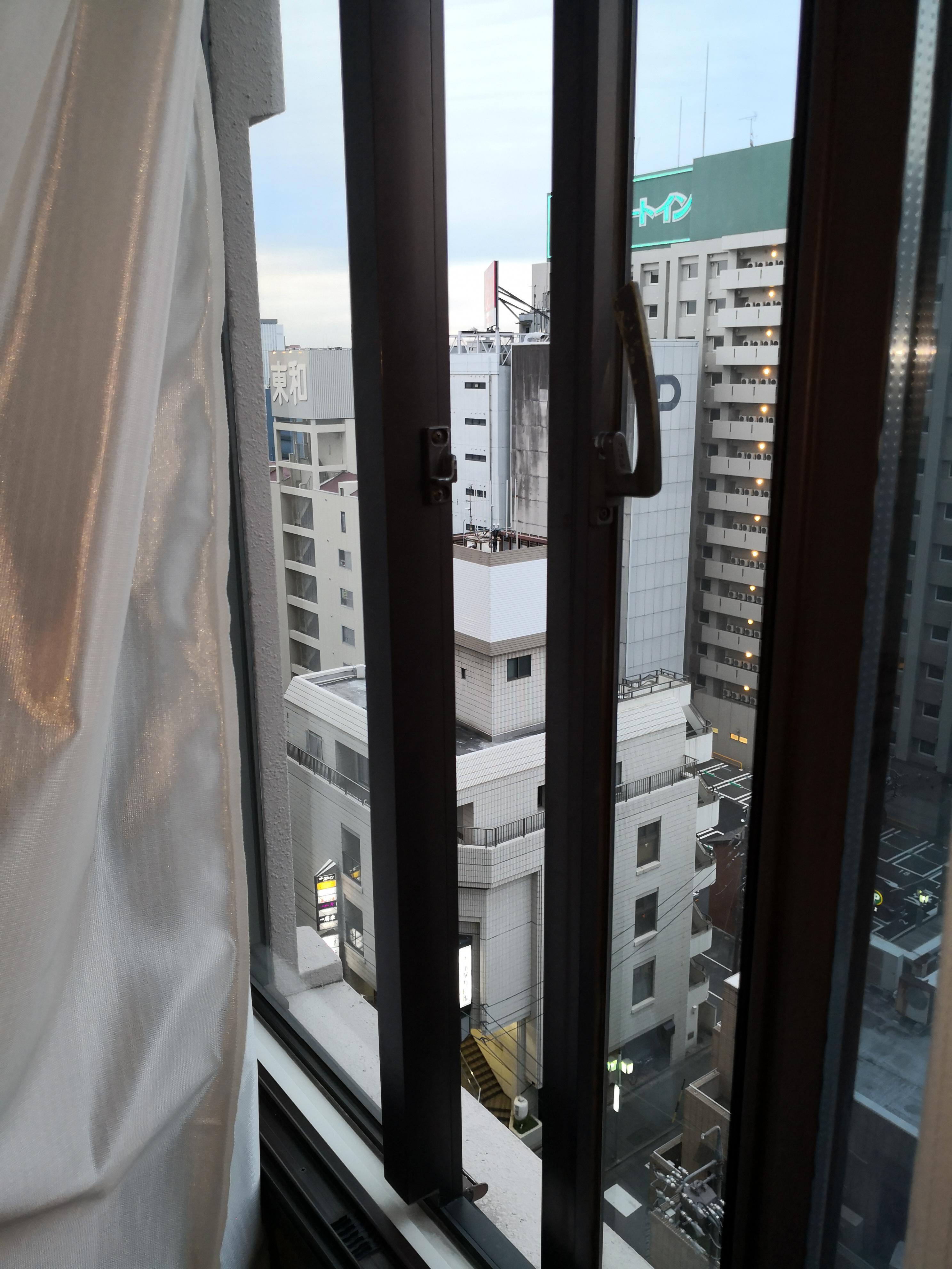 窓を開けたところ
